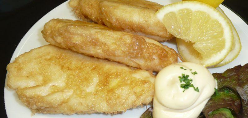 Imagen de plato de pescado con mayonesa