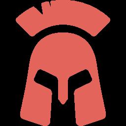 Casco soldado griego