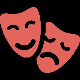 Icono máscaras teatro